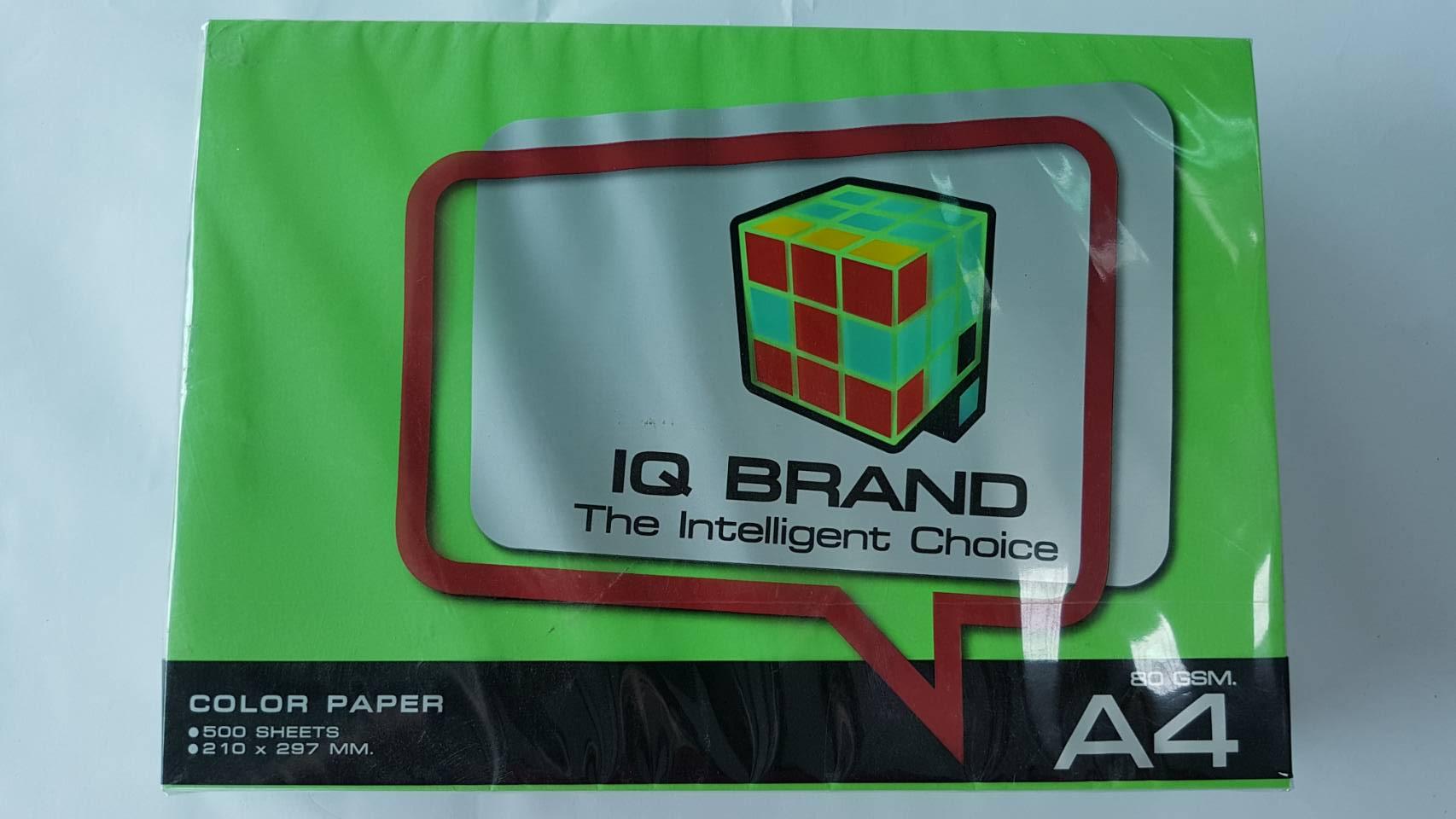 กระดาษสี IQ A4 80g สี Parrot 500แผ่น