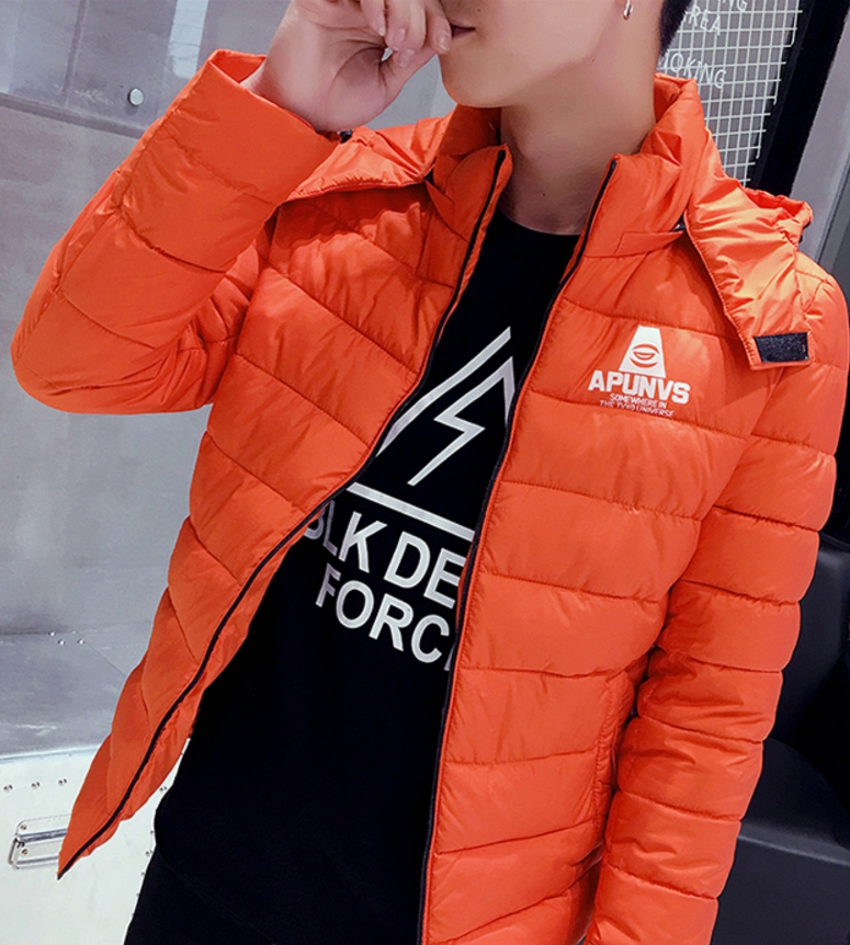 Clear special young men cotton jacket (สีส้ม)