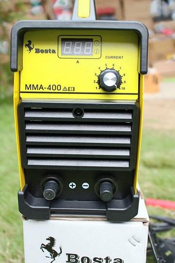 เครื่องเชื่อม อินเวอร์เตอร์ BOSTA. MMA 400A. ตู้เหลือง รุ้น งานหนัก แถมฟรี สายเชื่อม หน้ากาก ด้ามเคาะแปลงลวด