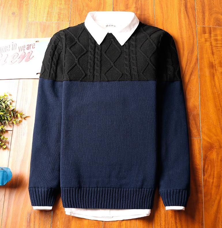 Super warm ticker men's sweater