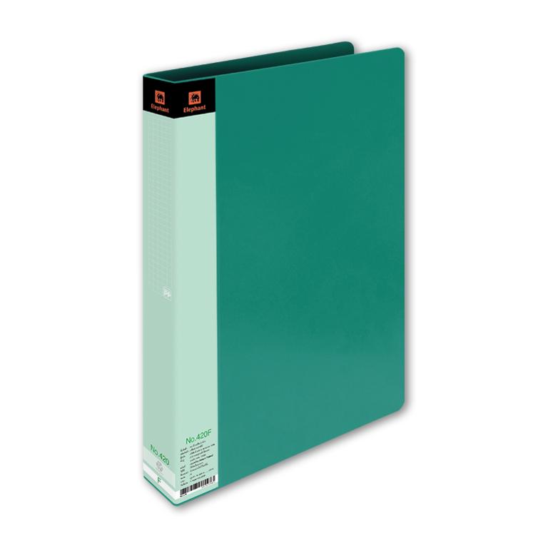 แฟ้ม2ห่วง ช้าง 420A4 สีเขียว