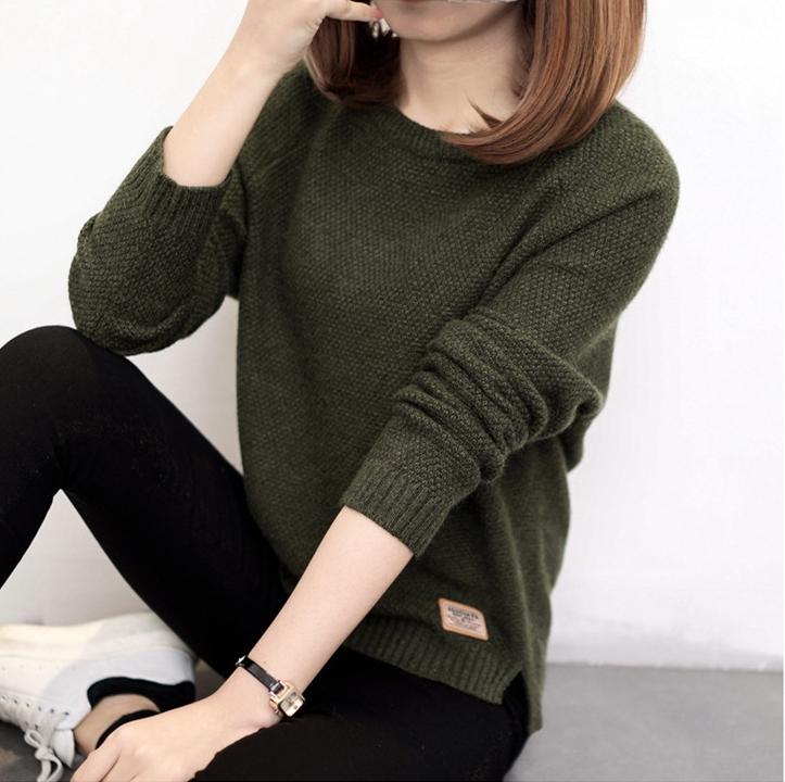 เสื้อกันหนาว Sweater authum N winter women (สีเขียว)