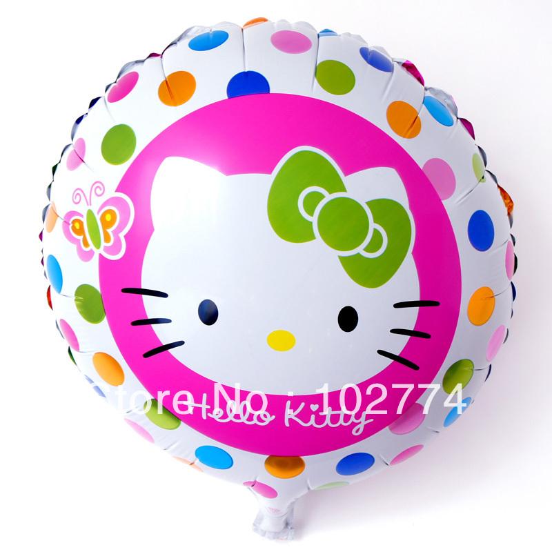 ลายการ์ตูน Hello Kitty ทรงกลม (แพ็ค10ใบ) / Item No. TL-A035