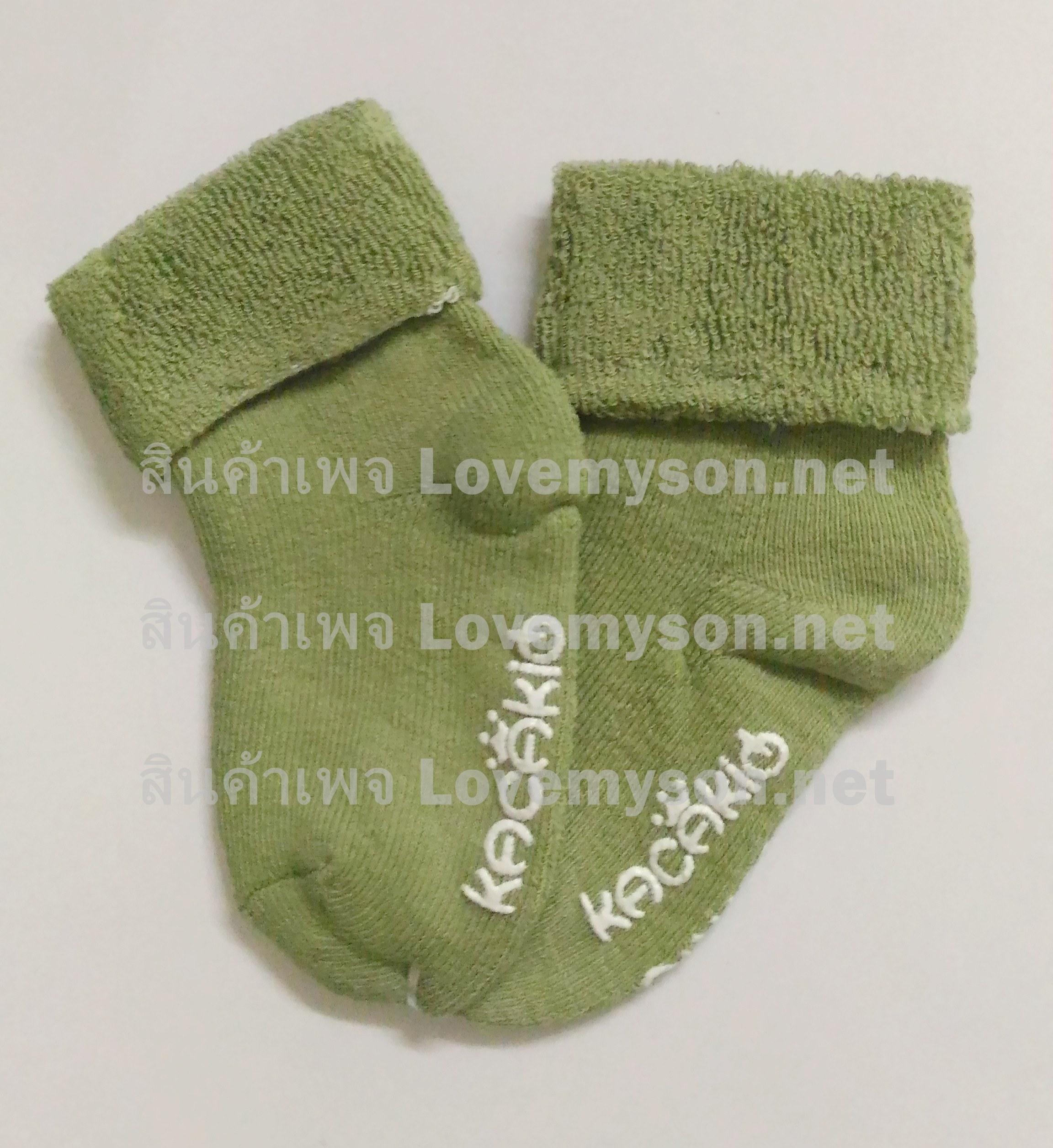 ถุงเท้าเด็กกันลื่นอย่างหนา ไซส์ 10-12,12-14 ซม. MSH72