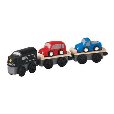 ของเล่นไม้ ของเล่นเด็ก ของเล่นเสริมพัฒนาการ Car Carrier Train (ส่งฟรี)