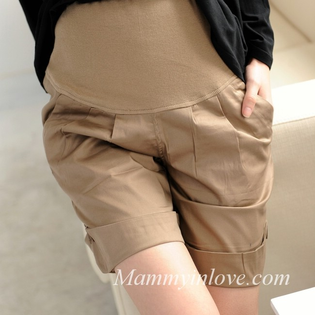 กางเกงคลุมท้องขาสั้น สีกากี : Size XL รหัส PN020
