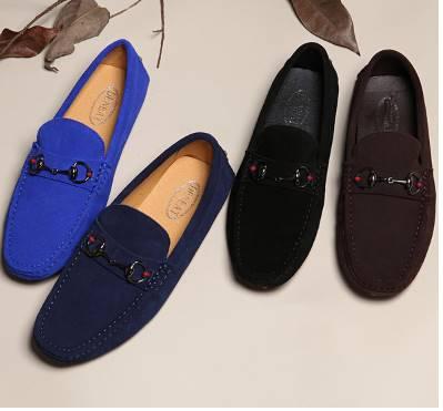 เล็กพรีออเดอร์ราคาพิเศษ รองเท้า loafer หนังกลับ รองเท้าคัทชู รุ่นchainH C12 สี ดำ ฟ้า น้ำเงิน เขียว น้ำตาล No.37-44