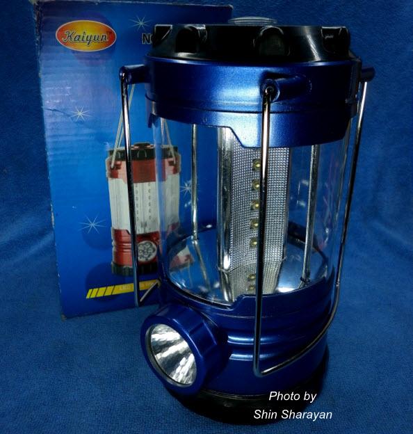 ตะเกียงแคมปิ้ง ไฟ 18 LED+ไฟฉายเล็ก 1 LED 999