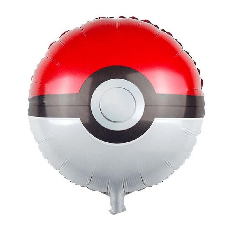 """ลูกโป่งทรงกลม มอสเตอร์บอล โปเกมอน ไซส์18"""" - Monster Ball Foil Balloon / Item No. TL-A146"""