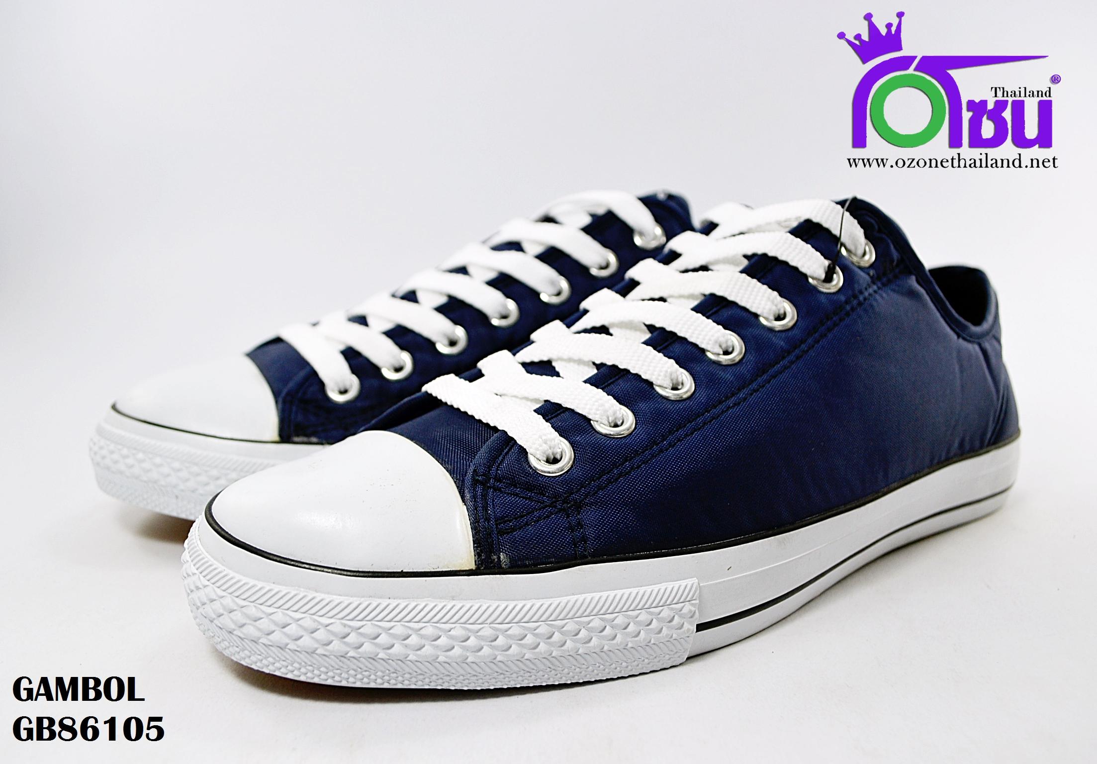รองเท้าผ้าใบ GAMBOL แกมโบล BG86105 สี กรม