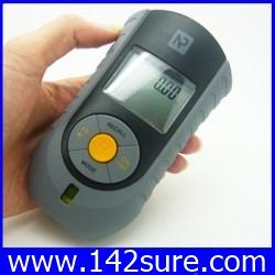 DMT022: เครื่องมือวัดระยะ พร้อมระดับน้ำ LCD Digital Ultrasonic Distance Measurer Laser Pointer วัดระยะ 18เมตร