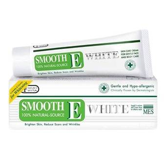 Smooth E Cream Plus White สมูท อี ครีม พลัส ไวท์ 30 g. ขนาดกลาง ลดเรือนริ้วรอย พร้อมชะลอการเสื่อมของสภาพผิว ให้ดูขาวกระจ่างใสและอ่อนเยาว์