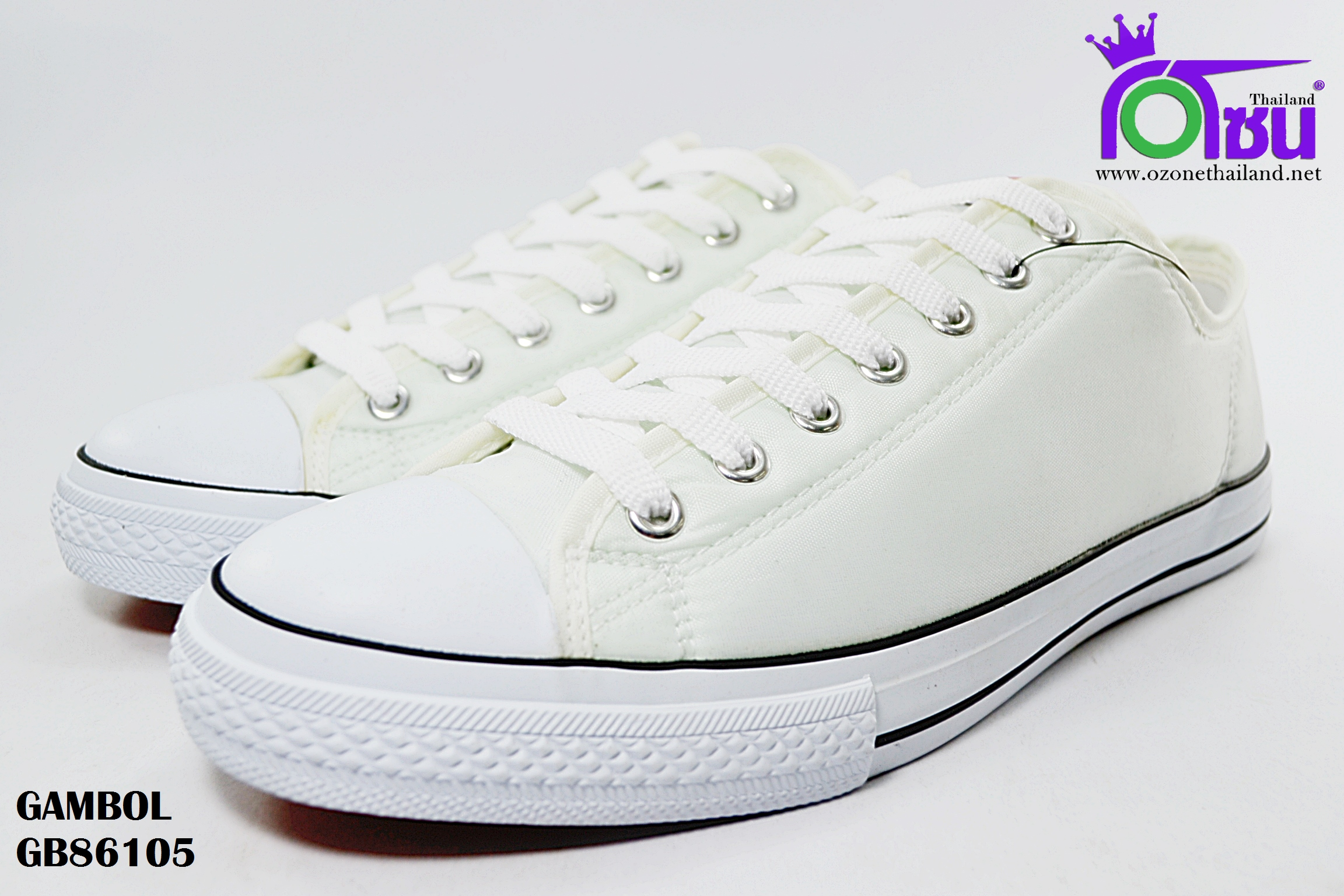 รองเท้าผ้าใบ GAMBOL แกมโบล BG86105 สี ขาว