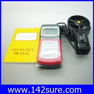 DWS014: เครื่องวัดความเร็วลม มิเตอร์วัดความเร็วลม เครื่องวัดลมใบพัดแยก AM4836V Digital Anemometer Air Flow Wind Speed Velocity Meter ?C Temperature
