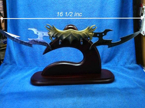 มีดโค้ง 2 หัว อาวุธสมัยโบราณ สำหรับแขวนโชว์
