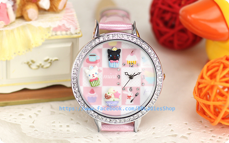 Pre-order: Dessert cats Mini watch