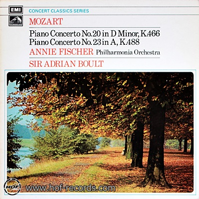 Annie Fischer Philhamonia Orchestra - Mozart Piano Concerto No.20,23 1lp