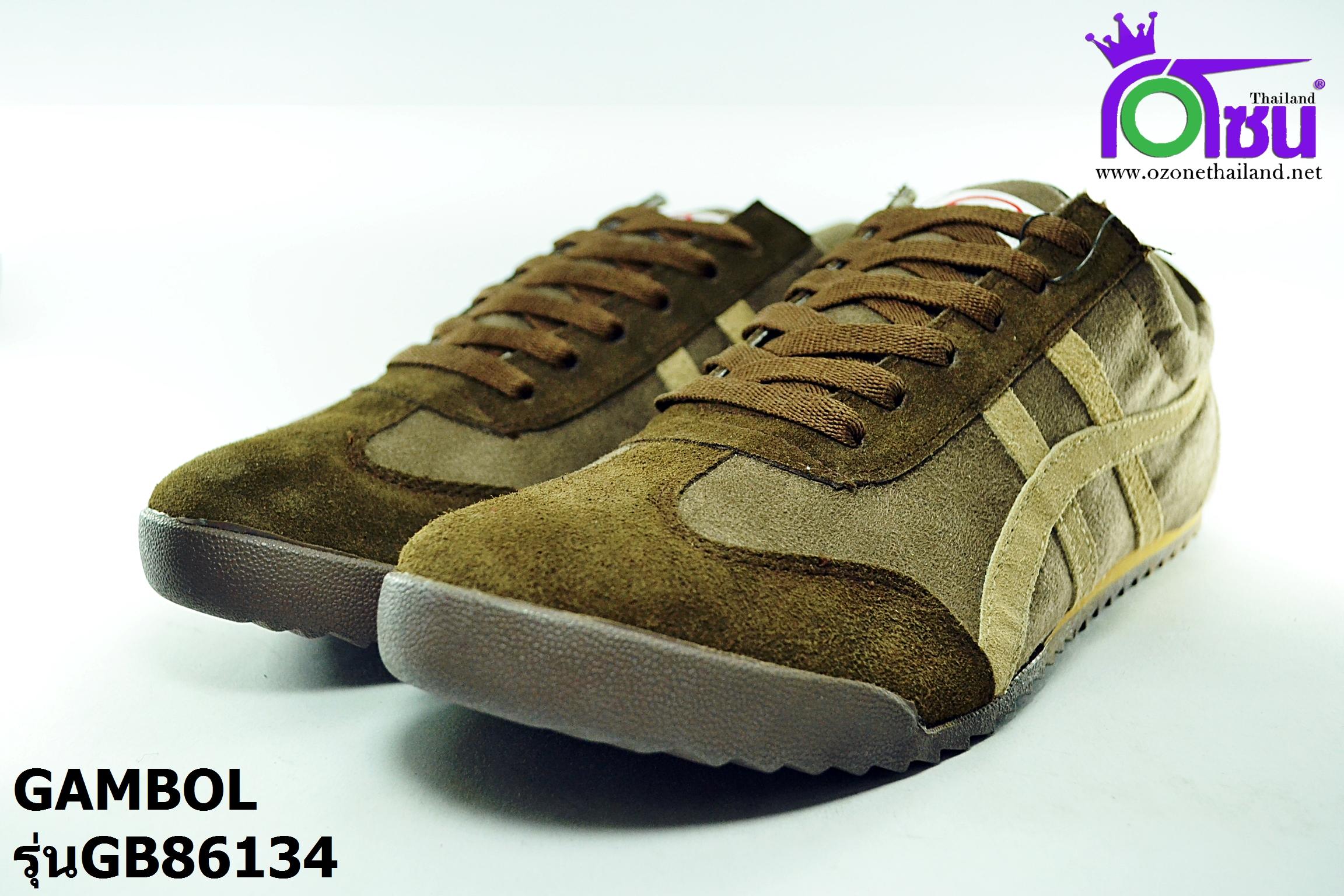 รองเท้าผ้าใบ แกมโบล GAMBOL รุ่นGB86134 สีน้ำตาล เบอร์40-44