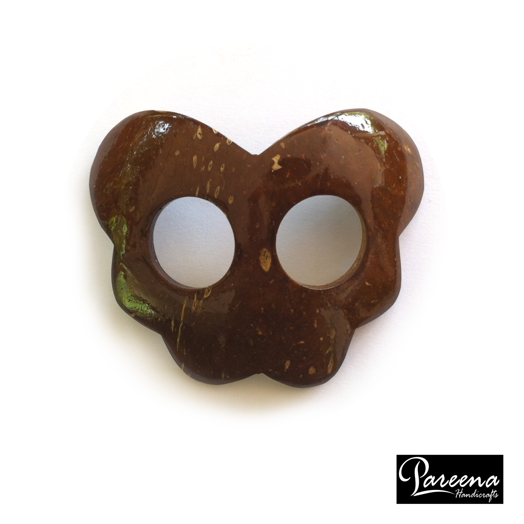 Coconut Buckle , Butterfly Picture (หัวเข็มขัดกะลามะพร้าวรูปผีเสื้อ)