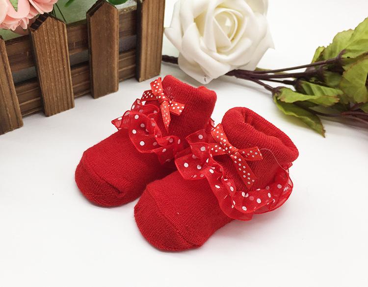 ถุงเท้าเด็กมีระบาย ไซส์ 7-8.5,8-10 ซม. MSC35