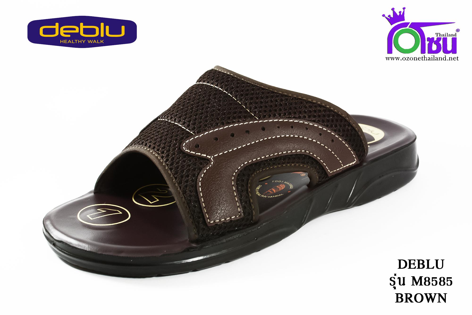 รองเท้าเพื่อสุขภาพ DEBLU เดอบลู รุ่น M8585 สีน้ำตาล เบอร์ 39-44