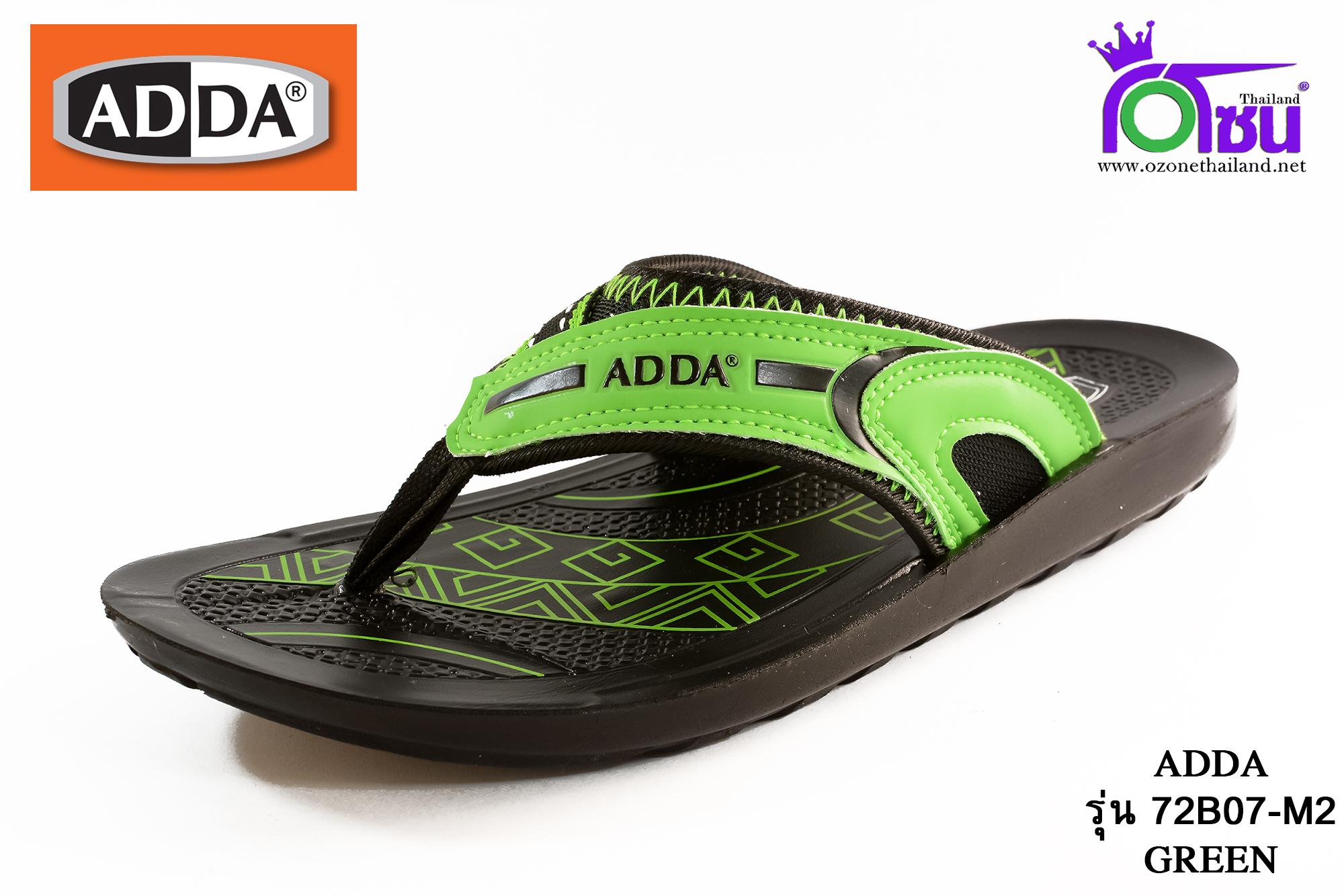 รองเท้าแตะหนัง ADDA แอดด๊า รหัส 72B07 สีเขียว เบอร์ 39-43