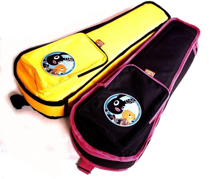 กระเป๋า Ukulele กระตูน หมี กระต่าย U900 บุฟองน้ำ สำหรับ size Soprano สีเหลือง - สีดำ