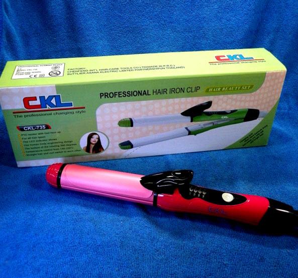 ที่หนีบผม CKL-735 รุ่น 2 in 1 Hair Beauty Set