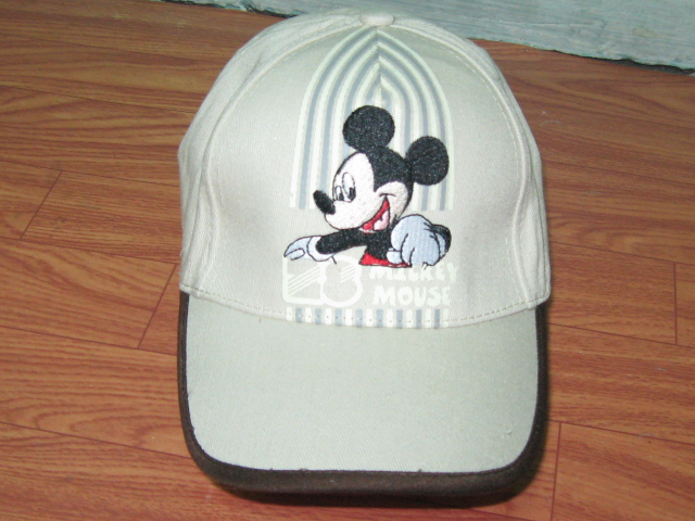 หมวก มิกกี้ สีน้ำตาลอ่อน แบบที่2