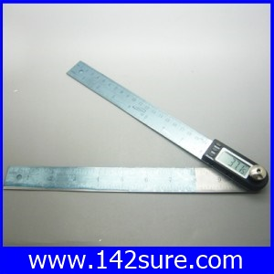 MSD027 ไม้บรรทัด พร้อมวัดองศา เครื่องวัดองศาดิจิตอล ไม้บรรทัดวัดมุม วัดองศาดิจิตอล 360 องศา iGaging 10″ Digital Angle Finder Meter