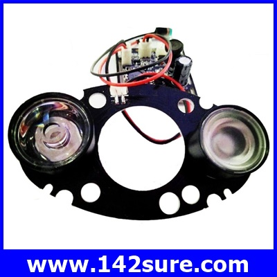 CTV021 อินฟราเรด2 LEDs 60 Degree IR Infrared สำหรับกล้องวงจรปิดระยะไกล (เลนส์ 6 mm) CCTV Camera