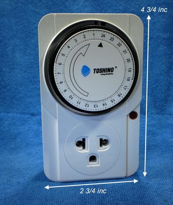 ปลั๊กตั้งเวลาจ่ายไฟ TOSHINO 24-hour Timer TS-MT3