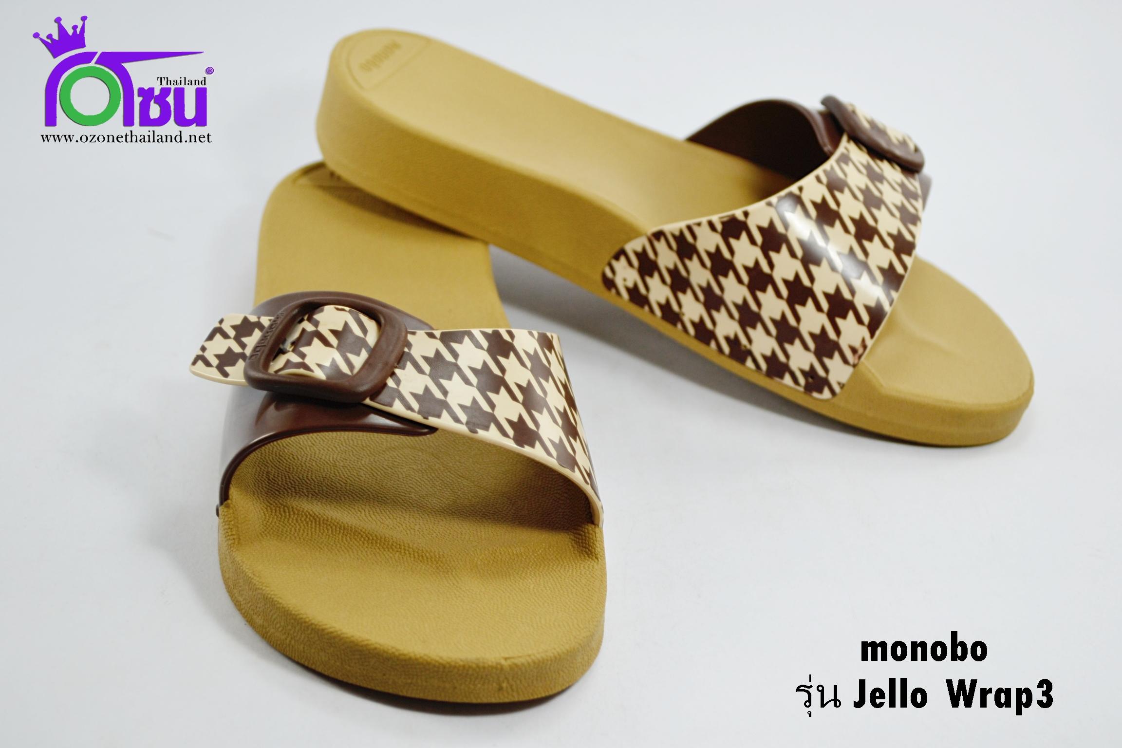 รองเท้าแตะ Monobo Jello Wrap 3 โมโนโบ้ สวม สีเบส-Biege เบอร์ 5-8