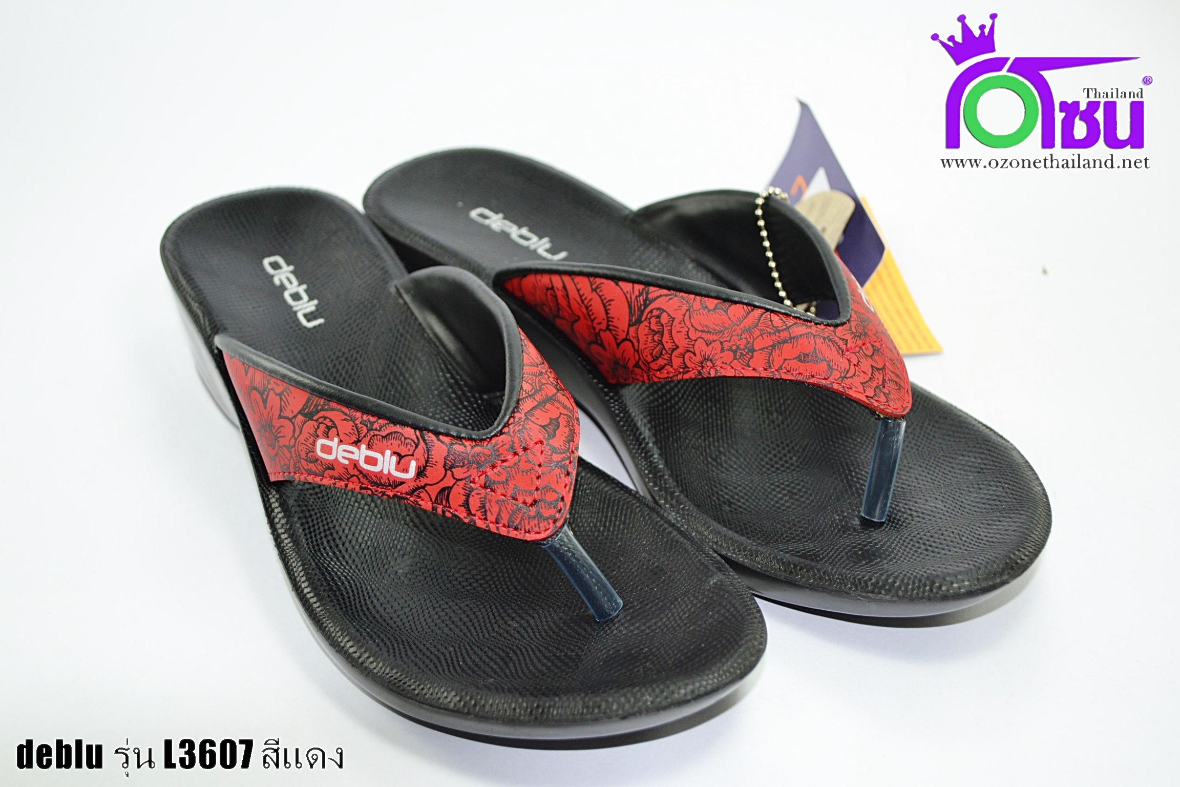 รองเท้าเดอบลู deblu รุ่นL3607สีแดง เบอร์36-41