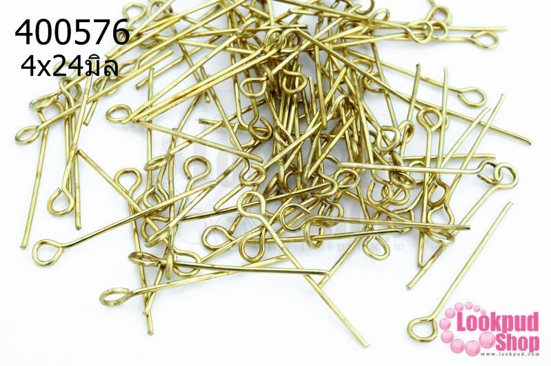 ตะปูเลข9หรืออายพิน สีทองเหลือง 4x24มิล (10กรัม)
