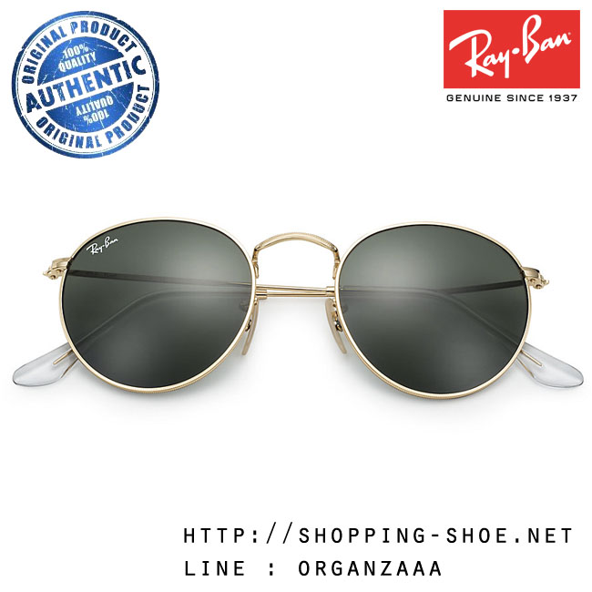 RayBan - RB3447 001 Round Metal Classic Lens, 50 mm.