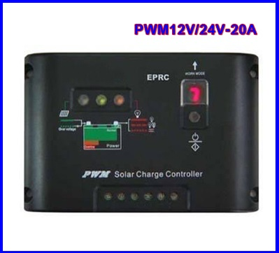 SCC015: โซล่าชาร์จเจอร์ Solar Panel Charger Controller Regulator 20A 12V/24V