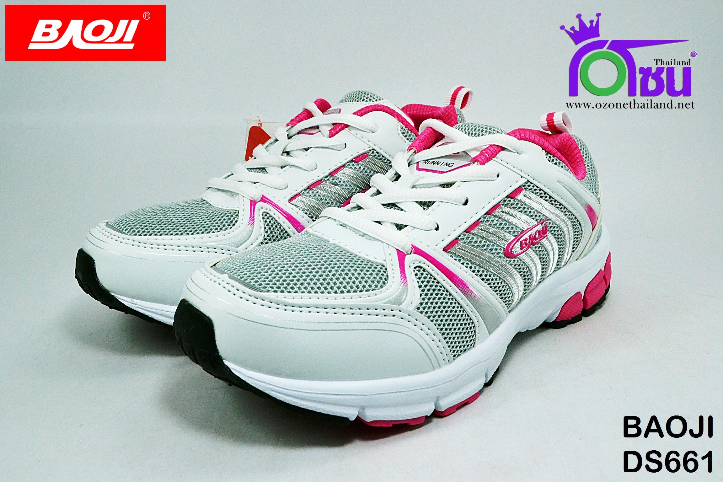 รองเท้าผ้าใบวิ่่ง BAOJI บาโอจิ รุ่นDS661 สีชมพู เบอร์ 37-41