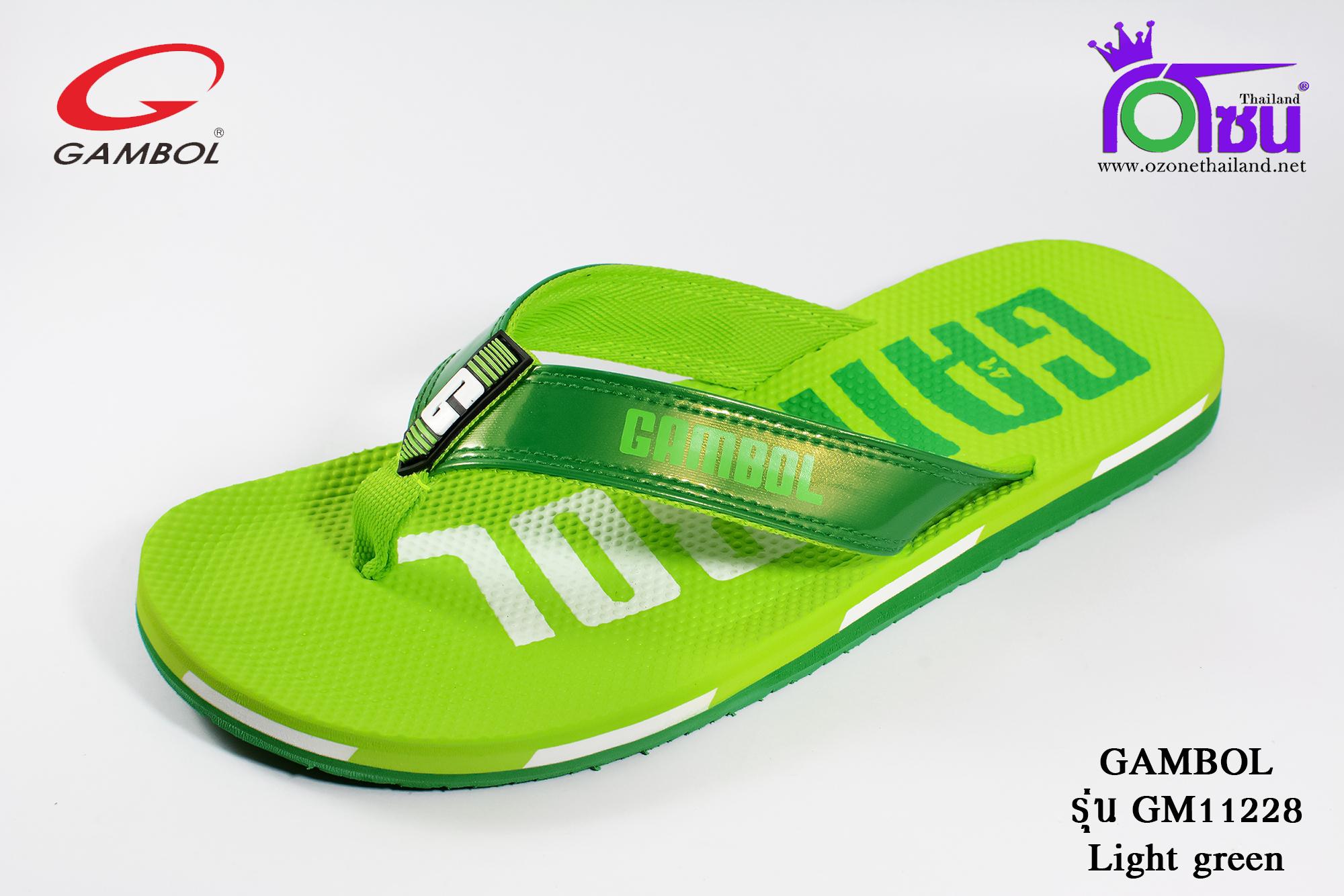 รองเท้าแตะGambol แกมโบล รหัส GM11228 สีเขียวอ่อน เบอร์ 40-44