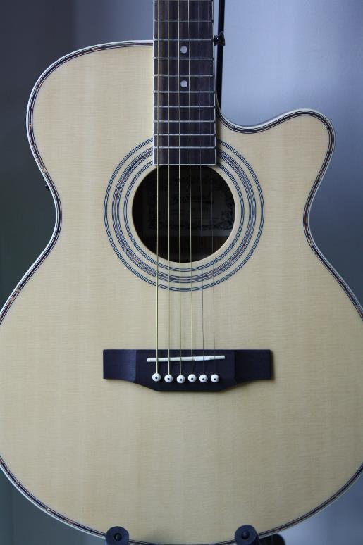 กีต้าร์ โปร่ง ไฟฟ้า Guitar KaSound รุ่น สำเนา