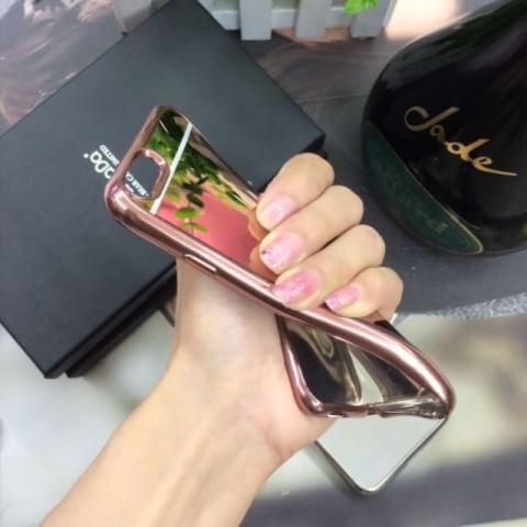 เคสกระจกเงานิ่มขอบโครเมียม ไอโฟน 6/6s plus 5.5 นิ้ว (ต้องลอกแผ่นพลาสติกที่เคสออก)