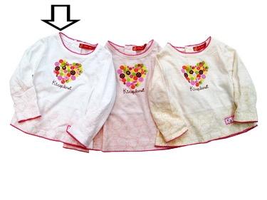KGTL187L Kidsplanet เสื้อยืดเด็กหญิง แขนยาว สีขาว สกรีนลาย+ปักแปะกระดุม เนื้อผ้ามีดีเทล กุ๊นรอบคอ แขนและชายเสื้อด้วยงานถักน่ารักมาก ๆ เหลือSize 3Y