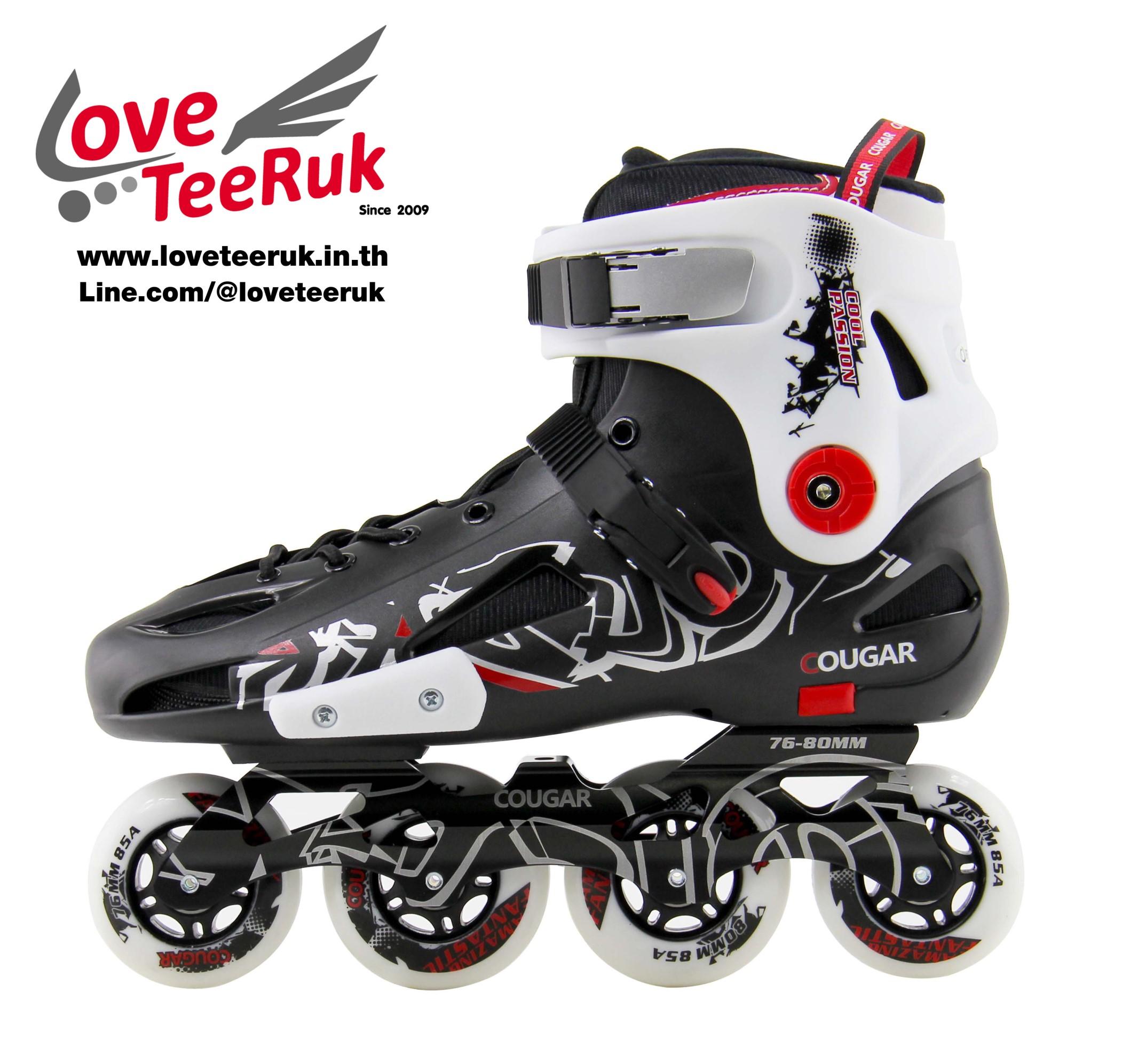 รองเท้าสเก็ต rollerblade แบบสลาลม รุ่น FXW สีดำ-ขาว Fixed Size 43, 44, 45