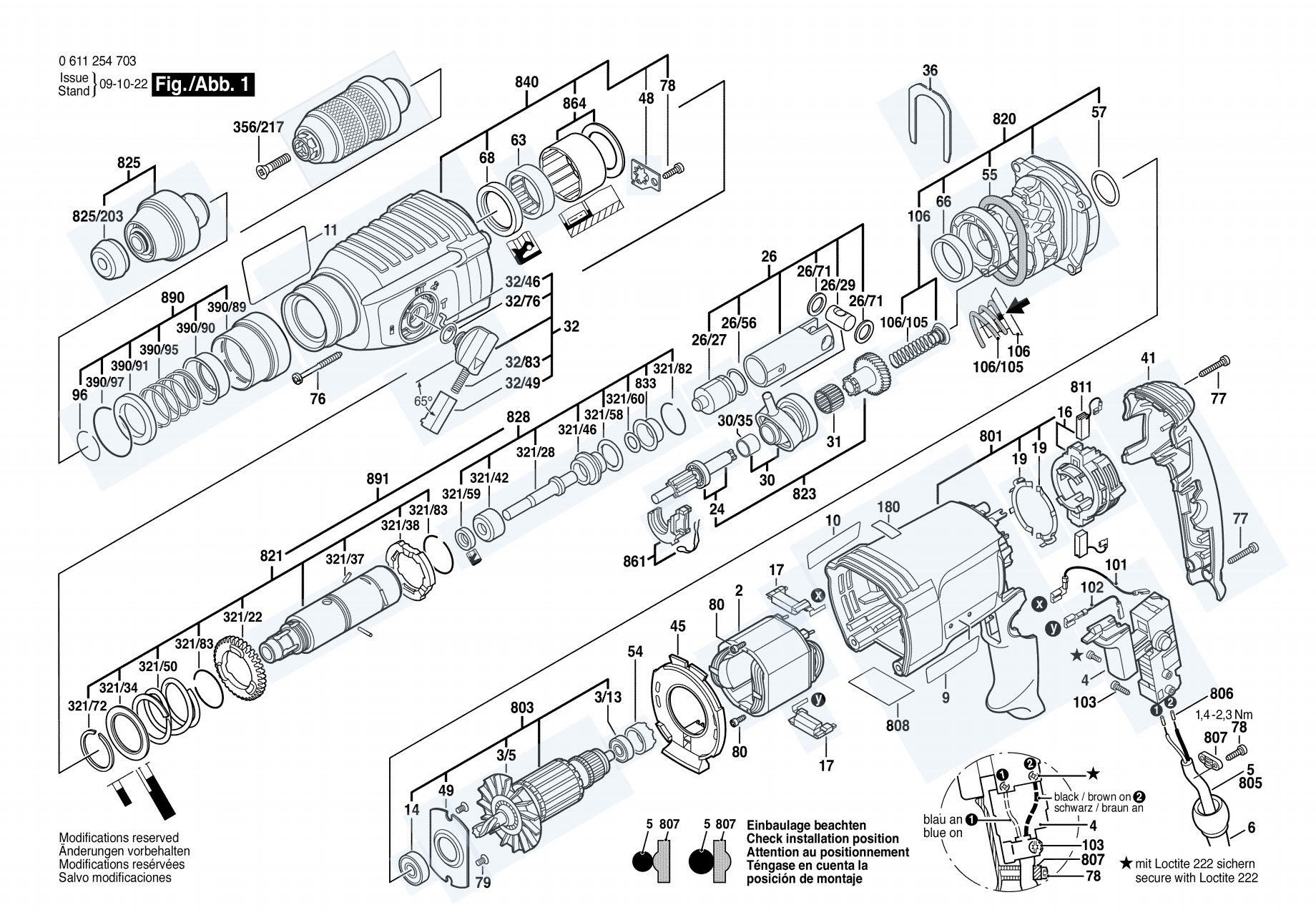 รายละเอียด อะไหล่สว่านโรตารี่ Bosch 2-26 DFR