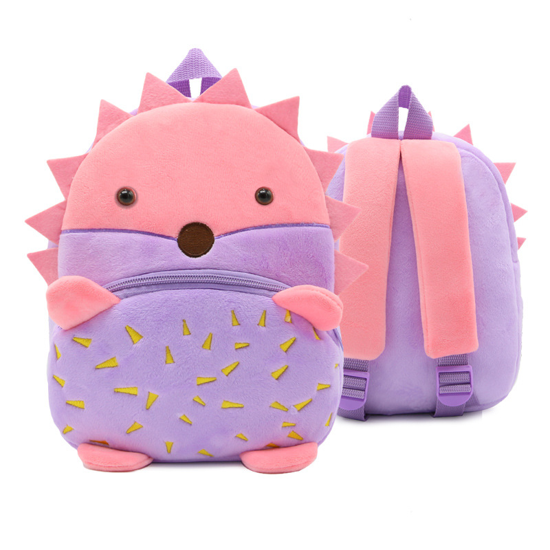 กระเป๋าเม่นสีม่วง