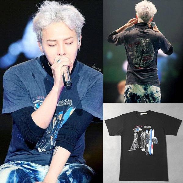 เสื้อแฟชั่นนักร้องเกาหลี เสื้อยืดแฟชั่น Bigbang GD MADE สีดำ