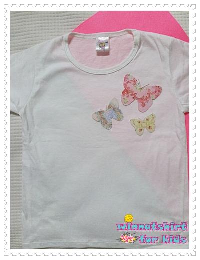 เสื้อยืดเด็ก ลายผีเสื้อ แบบที่ 2 Size L