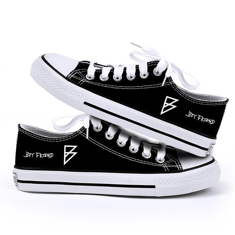 รองเท้าผ้าใบ Boyfriend สีดำ