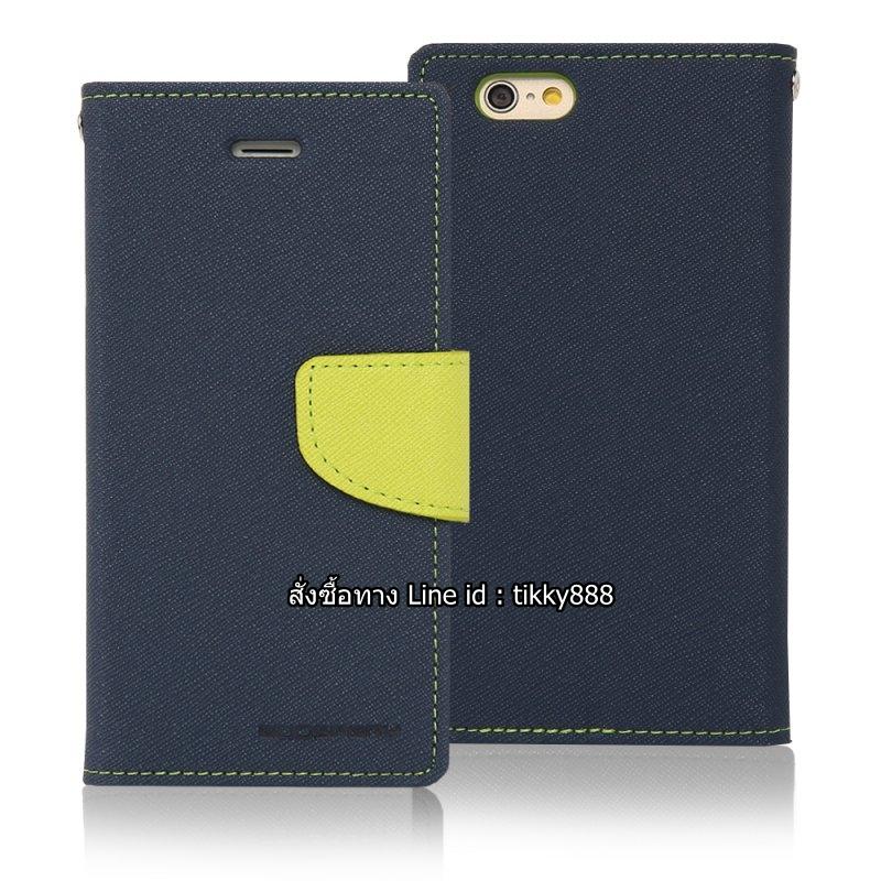 เคสฝาพับ iPhone 6 Goospery Fancy Diary สีน้ำเงินเข้ม by Mercury