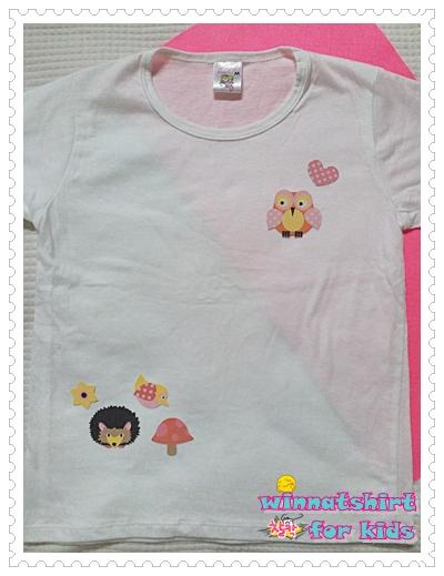 เสื้อยืดเด็ก ลายนกฮูก แบบที่ 9 Size S